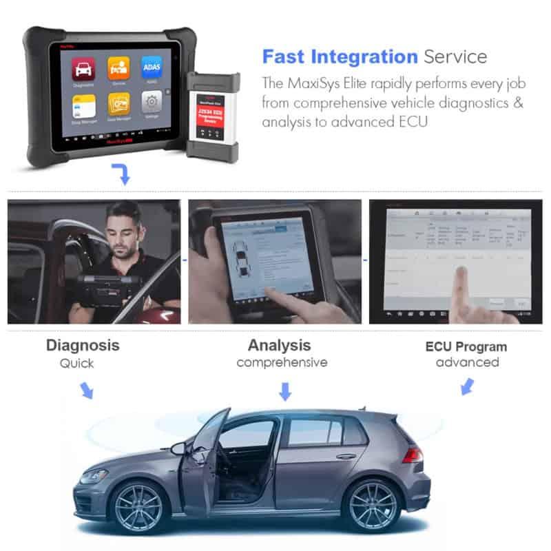 Autel Maxisys Elite Diagnostic Tool | J2534 ECU Programming (Upgraded  Version of MS908P)