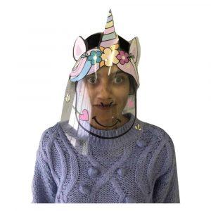 Kids DIY Protective Face Shield (Unicorn)