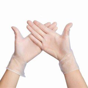 Vinyl Gloves – Disposable (Latex-free)(Transparent)(50 pairs)