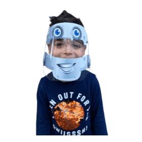 Kids DIY Protective Face Shield (Robot)