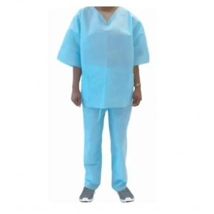 Reusable Coverall Set – Protective Clothing (Blue)