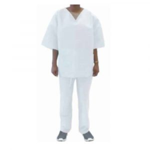 Reusable Coverall Set – Protective Clothing (White)