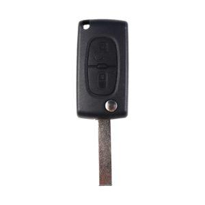 Peugeot 207, 208, 307, 308, 408, Partner | Complete Remote Key (2 Button, HU83  Blade, 433MHz )