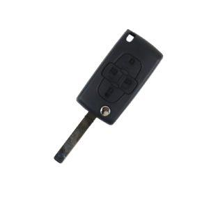 Citroen - C1, Berlingo, Picasso   Remote Key Case & Blade (4 Button, VA2 Blade)