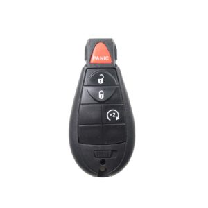 Chrysler, Dodge, Jeep - Grand Cherokee, Libe + Others | Complete Remote Key (3+1 Buttons Lock, Unlock & X2)