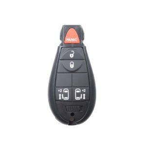 Chrysler, Dodge, Jeep - Grand Cherokee, Libe + Others | Complete Remote Key (4+1 Buttons Lock, Unlock, Rr Door & Lr Door)